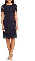 Preston & York Felicia Short Sleeve Lace Sheath Dress