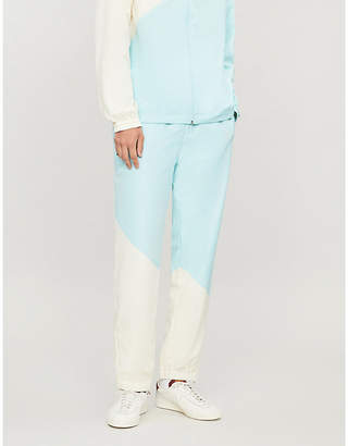 Lacoste x GOLF le FLEUR relaxed-fit straight shell tracksuit bottoms