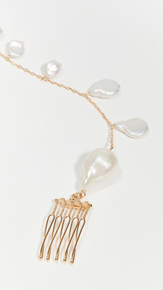 LELET NY Fresh Water Pearl Spine Hair Comb