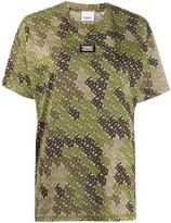 Burberry camouflage monogram T-shirt