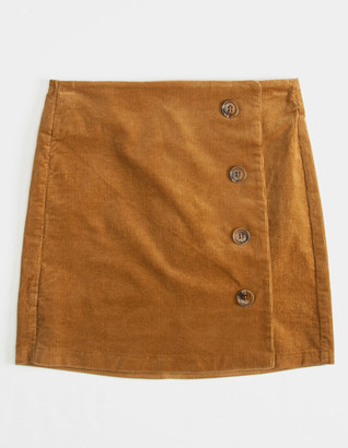 Rewash Corduroy Button Front Girls Skirt