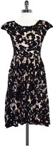 Yoana Baraschi Black & Nude Floral Lace Dress