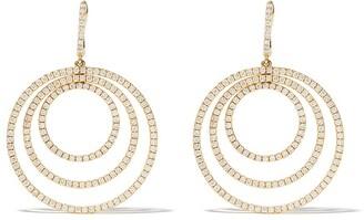 Kiki McDonough 18kt yellow gold Lola triple diamond hoop earrings