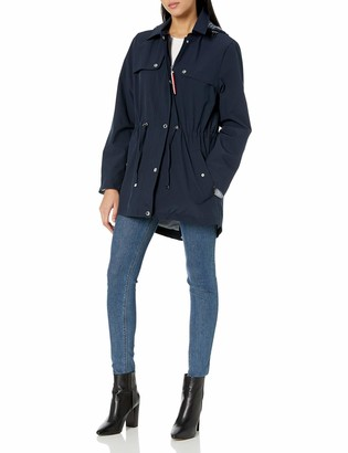 Tommy Hilfiger Women's Stretch Anorak with Gunflap Pocket Detail
