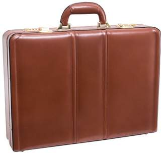 McKlein Usa Daley Leather Attache Case - Brown
