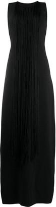 Jil Sander Fringed Detail Long Dress