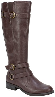 White Mountain Riding Inspired Tall Boots - Loyal Wide Calf