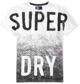 Superdry Men's Scratched Out Long Line Graphic-Print Cotton T-Shirt