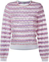 Carven zig zag knit jumper