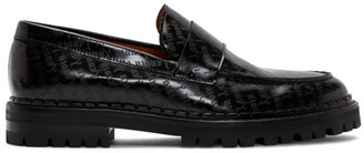 Lanvin Black Goth Logo Print Loafers