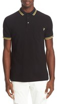 Versace Men's Embroidered Pique Polo