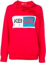 Kenzo logo patch frill sweatshirt