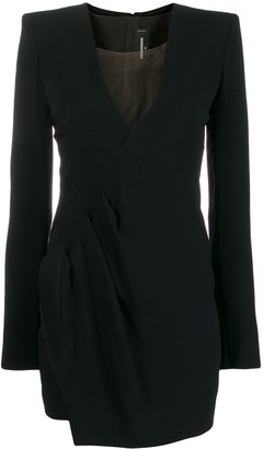DSQUARED2 V-neck ruched mini dress