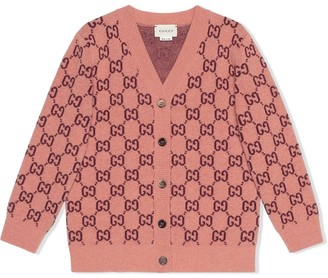 Gucci Kids GG V-neck buttoned cardigan