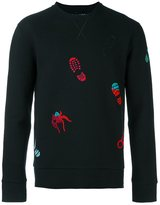 Lanvin embroidered spider footprint sweatshirt