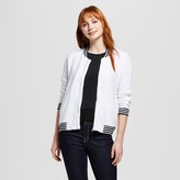 Mossimo Women's Bomber Jacket with Sport Stripe White