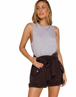 Blank NYC Women's Shorts Faded Black