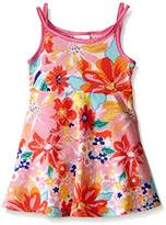 Youngland Girls' Floral Blister Knit Fashion Dress
