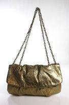 Elie Tahari Gold Tone Chain Fold Lock Closure