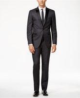 Calvin Klein Grey with Black Peak Lapel Slim-Fit Tuxedo