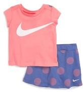 Nike Infant Girl's Polka Dot Shirt & Skort Set