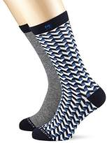 Scotch & Soda Men's Patterned Calf Socks,pack of 2