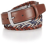 Daniel Cremieux Braided Leather and Linen Belt
