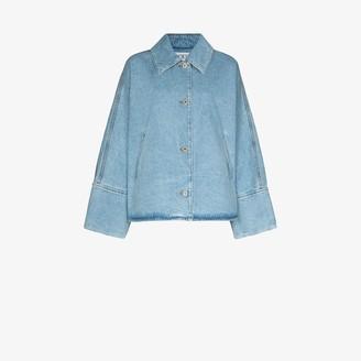 Loewe Single-Breasted Denim Jacket