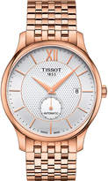 Tissot T0634283303800 Tradition rose-gold plated stainless steel automatic watch