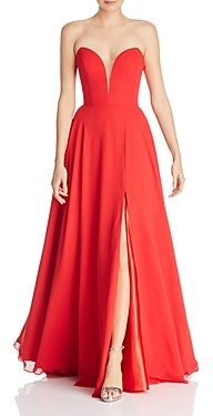 Couture Faviana Chiffon Plunging Sweetheart Gown