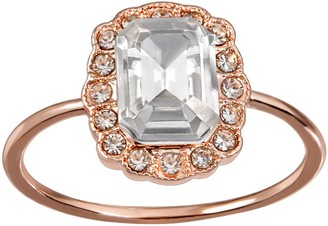 Lauren Conrad Emerald Cut Halo Ring