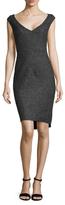 Christian Dior Wool V-Neck Sheath Dress