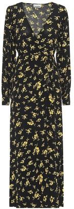 Ganni Floral crepe maxi dress