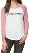 Spiritual Gangster Free Spirit Raglan Retro T-shirt