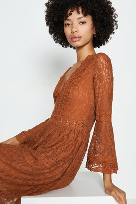 Coast 3/4 Lace Sleeve Short Swing Dress