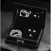 Bey-Berk Jewelry Box in Black Leather [Kitchen]