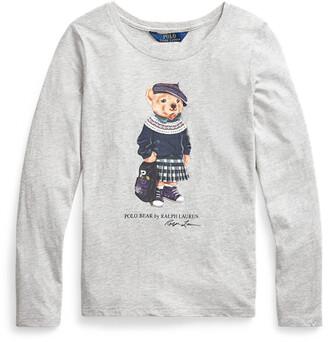 Ralph Lauren Backpack Bear Cotton Jersey T-shirt