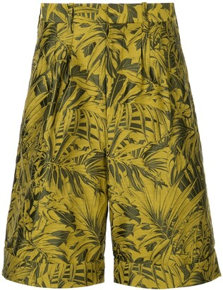 Cerruti Tropical-Print Bermuda Shorts