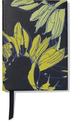 Smythson Soho Sunflower Textured-leather Notebook