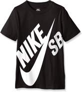 Nike Boys SB Logo T-Shirt Big Boys 8-20 (XL (13-15 Years), )