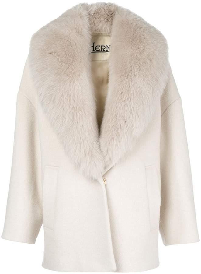 Herno fur-collared coat