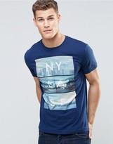 Esprit Crew Neck T-Shirt with City Graphic Print