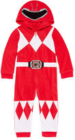 Power Rangers Boys Sleepwear Long Sleeve Footed Pajamas-Big Kid Boys