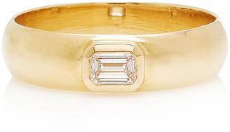 Zoë Chicco 14K Yellow Gold & Emerald Cut Diamond Band