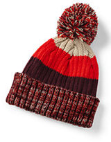 Classic Boys Stripe Rib Knit Hat-Midnight Ink