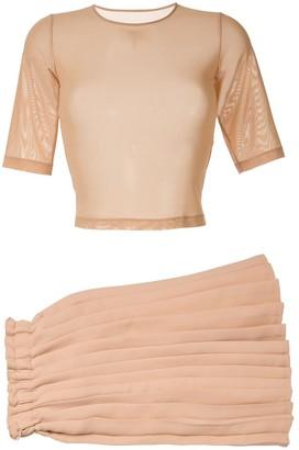 MM6 MAISON MARGIELA sheer short sleeve T-shirt