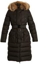Moncler Khloe fur-trimmed quilted-down coat