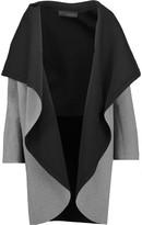 Norma Kamali Reversible draped cotton-blend coat