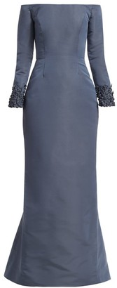 Catherine Regehr Oriel Off-The Shoulder Embellished Cuff Gown