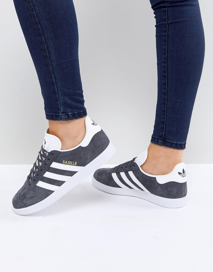 gazelle sneakers in gray